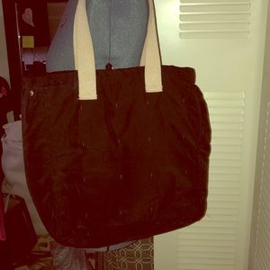 Handbags - Black Quilted Tote
